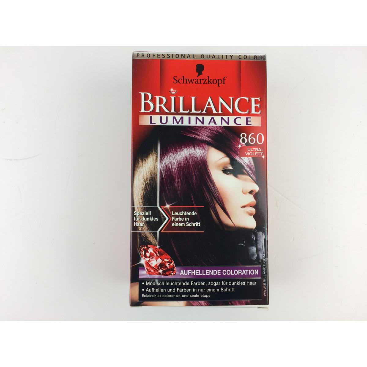 4 X Schwarzkopf Brillance Luminace 860 Ultraviolet 5748 Ml
