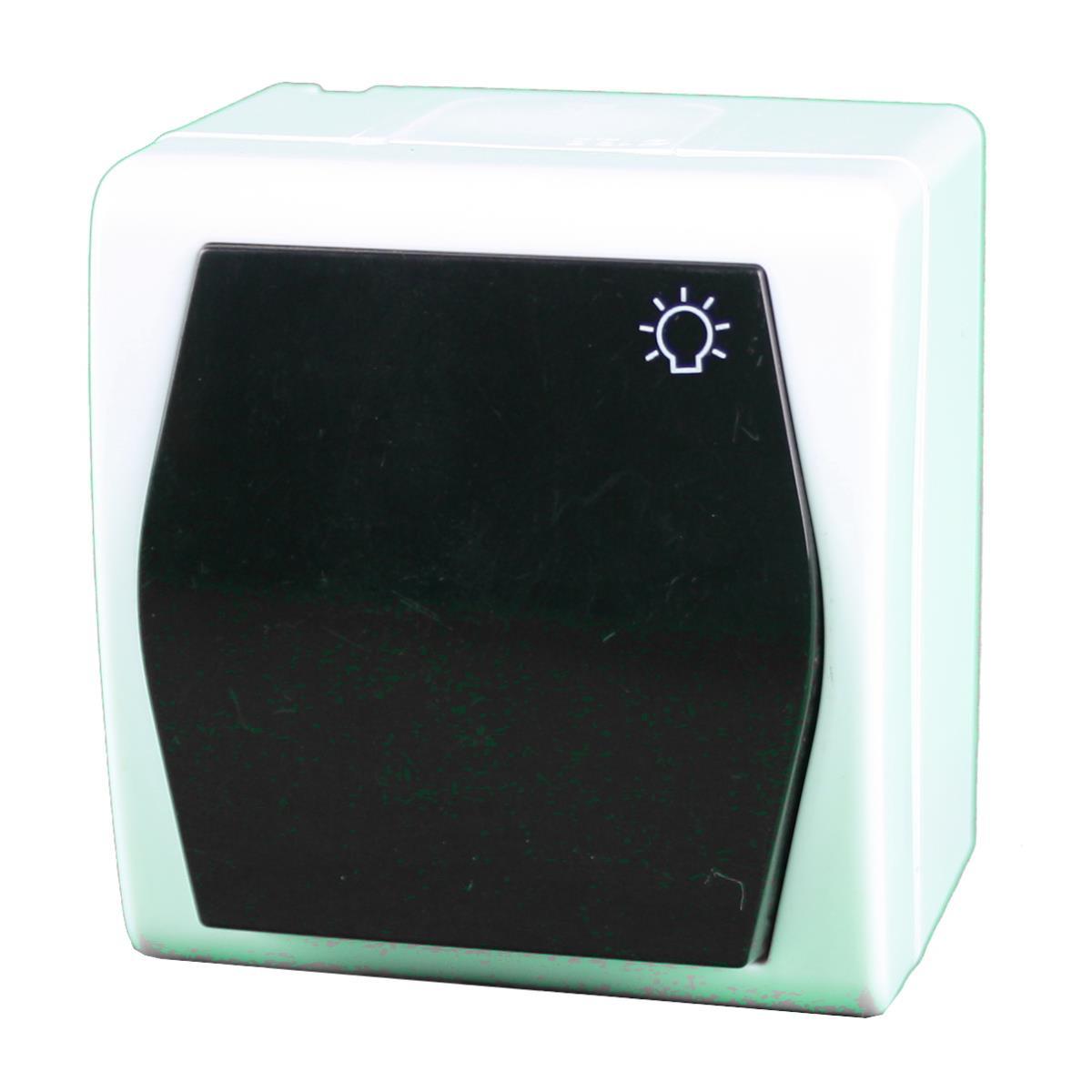 aufputz ap lichtschalter schuko steckdose zweifach dreifach ip44 farbe braun ebay. Black Bedroom Furniture Sets. Home Design Ideas